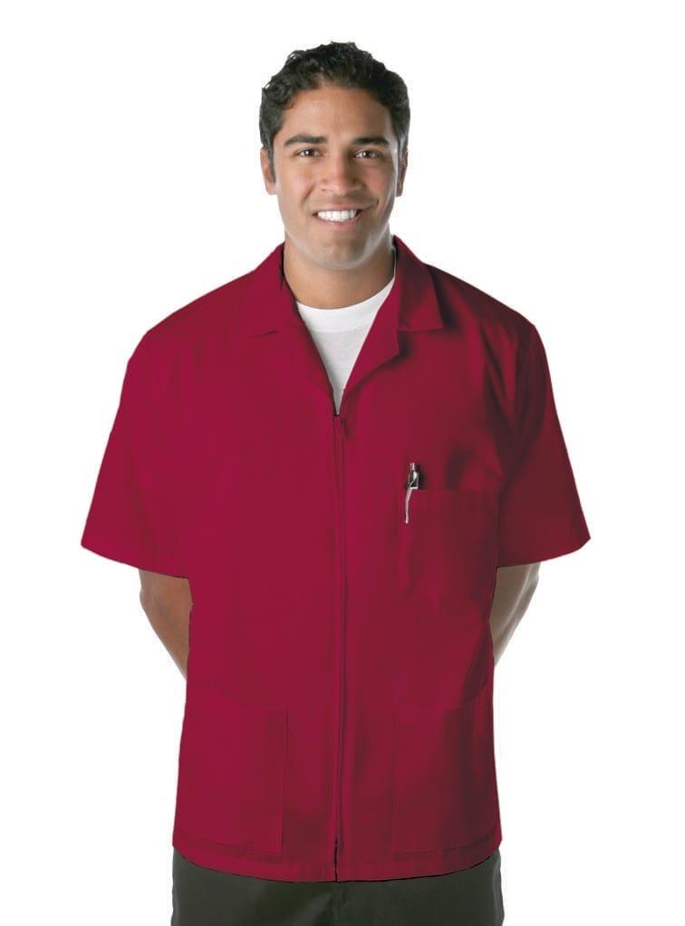 Red-Zipper Smock