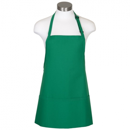 F10 Kelly Green Bib Apron