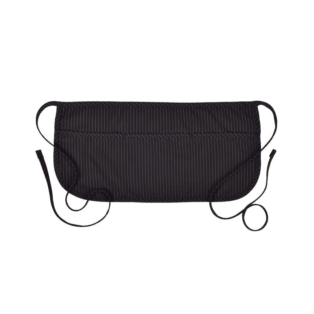 Black Pinstripe Waist Apron by Fame