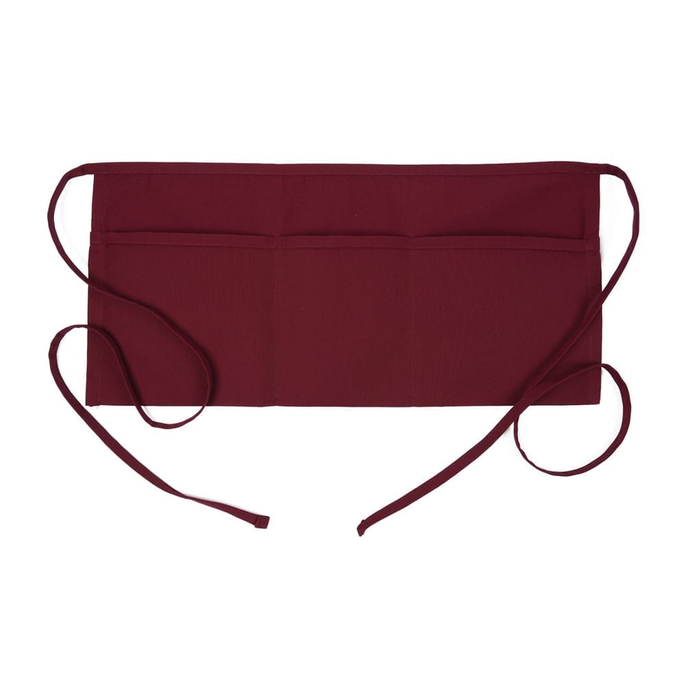 Burgundy 3 Pocket Waist Apron