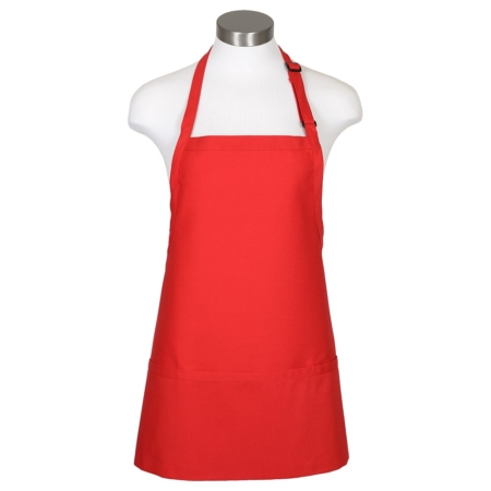 F10 3 pocket bib apron red