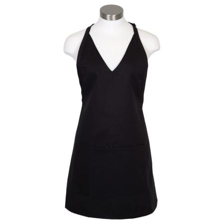 Tuxedo Style V-Neck Bib Apron