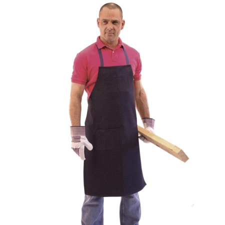 2 pocket bib shop apron
