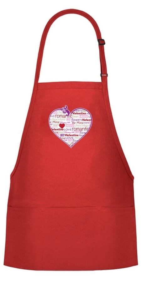 Valentine's Day Bib Apron
