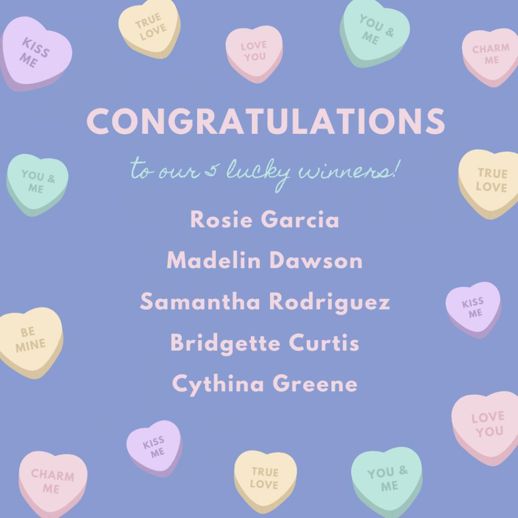 Valetine's Apron Giveaway Winners