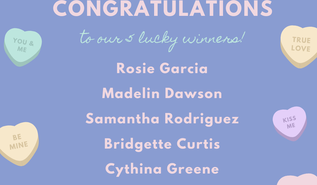 Valetine's Apron Giveaway Winners