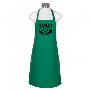 Dad the man apron - kelly green