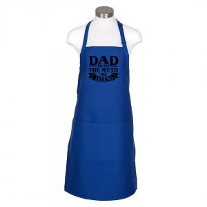 Dad the man apron - royal blue