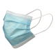 Disposable Blue Earloop Face Mask Left