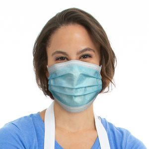 Disposable Blue Earloop Face Mask Model (1)