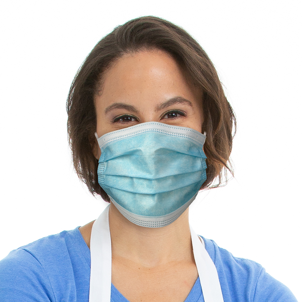 Disposable Blue Earloop Face Mask Model
