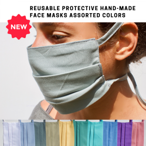 ReUsable Protective Hand-Made Face Masks Assorted Colors